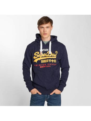 Superdry Hombres Sudadera Premium in azul
