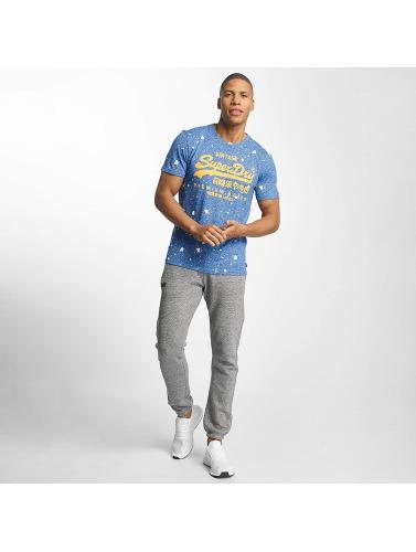 Superdry Herren T-Shirt Premium Goods Paint Splatter in blau