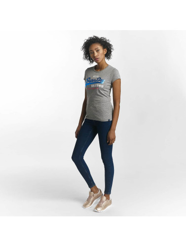 Superdry Damen T-Shirt Vintage Logo Tri Foil Entry in grau