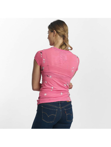 Superdry Damen T-Shirt Premium Goods Doodle Entry in pink
