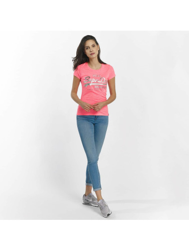 Superdry Damen T-Shirt Vintage Logo Embossed Foil in pink
