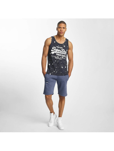 Superdry Hombres Tank Tops Vintage Logo Photo Entry in azul