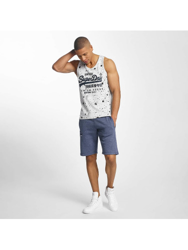 Superdry Hombres Tank Tops Vintage Logo Photo Entry in gris