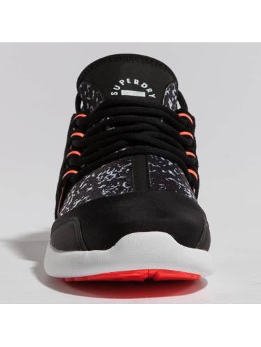 Superdry Mujeres Zapatillas de deporte Super Lite Runner in negro