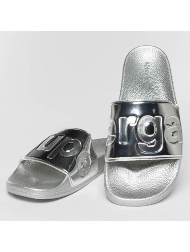 Superga Mujeres Chanclas / Sandalias Metallic in plata