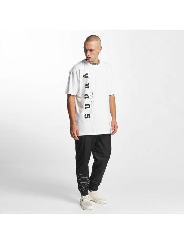 Supra Hombres Camiseta Heritage in blanco
