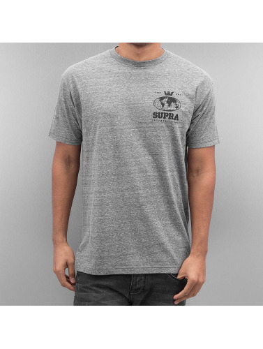 Supra Hombres Camiseta Worldwide Reg in gris
