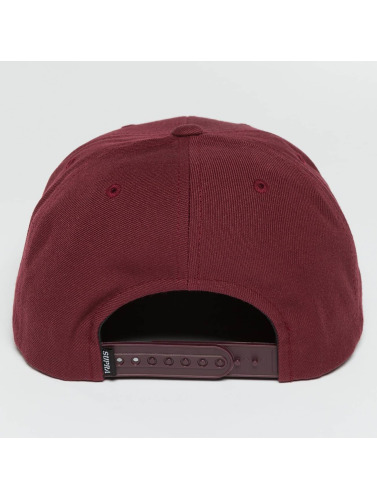 Supra Snapback Cap Icon in rot