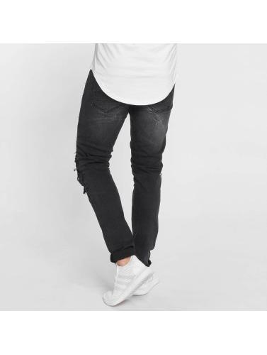 Terance Kole Herren Skinny Jeans Zoltan in schwarz