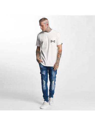 The Dudes Hombres Camiseta Foe in blanco