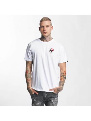The Dudes Hombres Camiseta Lips in blanco