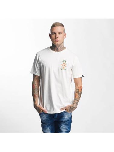 The Dudes Hombres Camiseta Pizza 24/7 in blanco