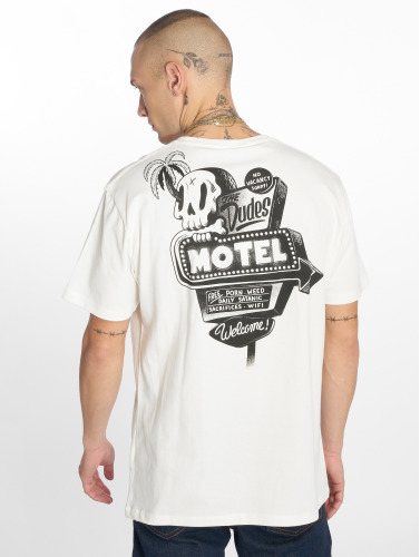 The Dudes Hombres Camiseta Motel in blanco