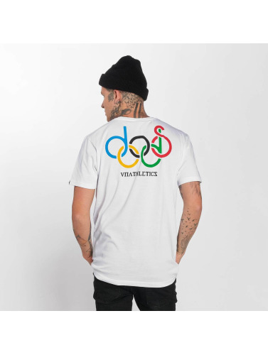 The Dudes Hombres Camiseta Olympic Doods in blanco