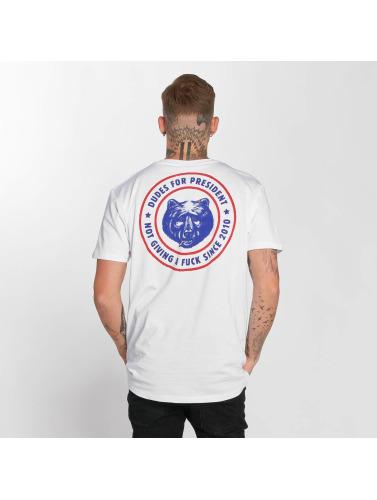 The Dudes Hombres Camiseta President in blanco