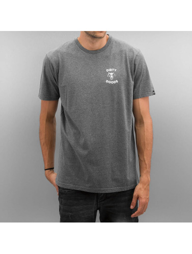The Dudes Hombres Camiseta Dirty Deeds in gris