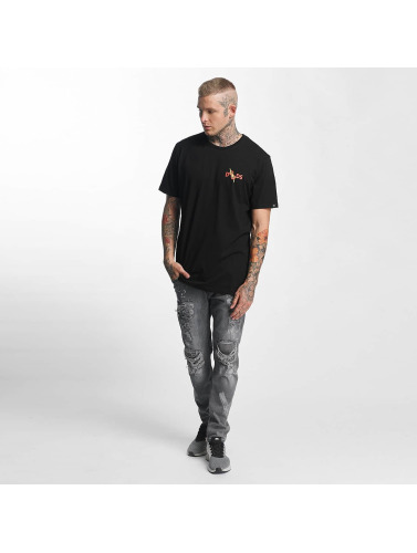 The Dudes Hombres Camiseta Chili Cheese in negro