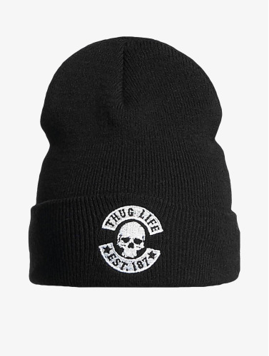 Thug Life Basic Beanie Basic Skull in schwarz
