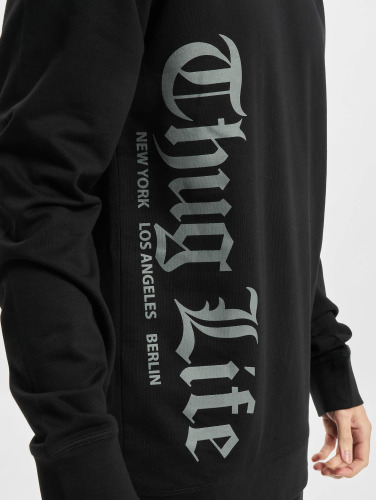 Thug Life Basic Hombres Jersey Old Engish in negro