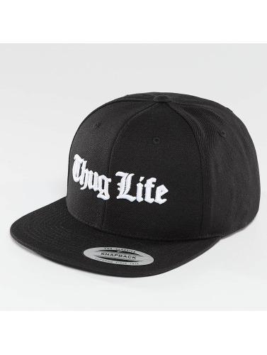 Thug Life Basic Herren Snapback Cap Basic Old English in schwarz
