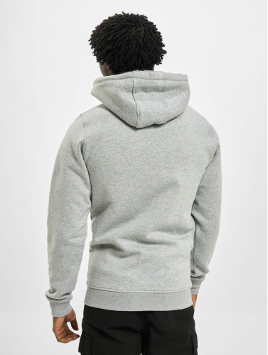 Thug Life Basic Hombres Sudaderas con cremallera Chest Cities in gris