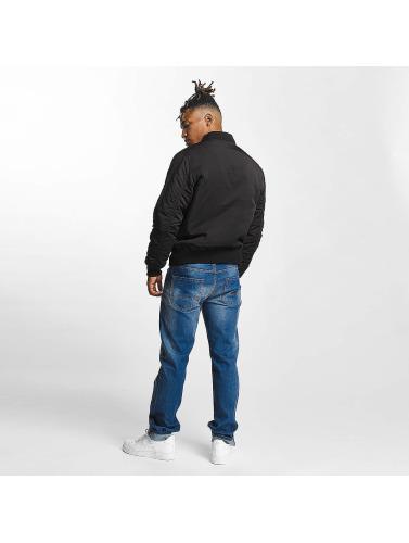 Thug Life Herren Bomberjacke 2 in 1 in schwarz