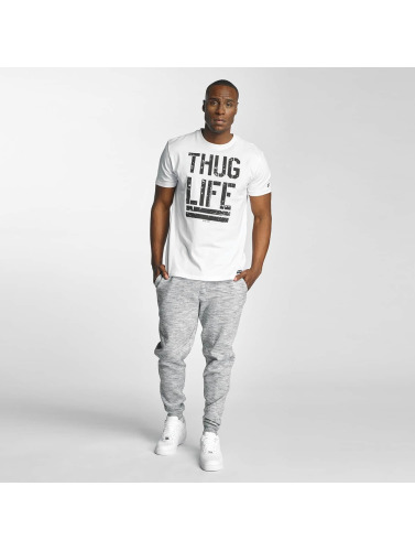 Thug Life Hombres Camiseta Ghost in blanco