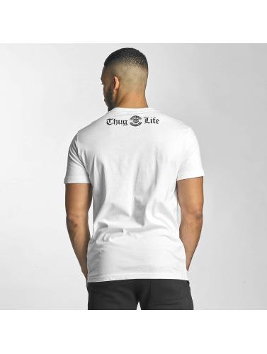 Thug Life Hombres Camiseta Established 187 in blanco