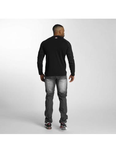 Thug Life Hombres Camiseta de manga larga Box Life in negro