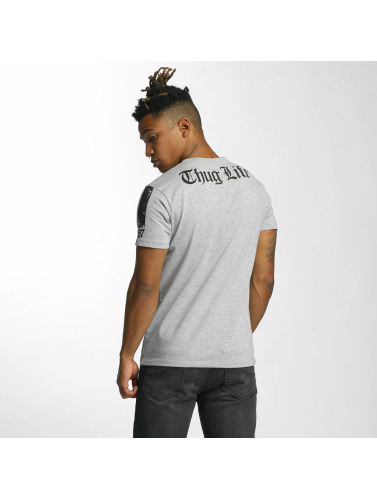 Thug Life Hombres Camiseta Blind in gris