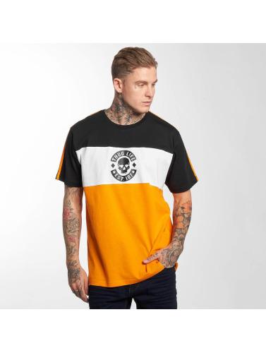 Thug Life Hombres Camiseta Life Lion in naranja