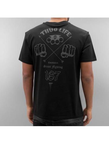 Thug Life Hombres Camiseta Streetfight in negro