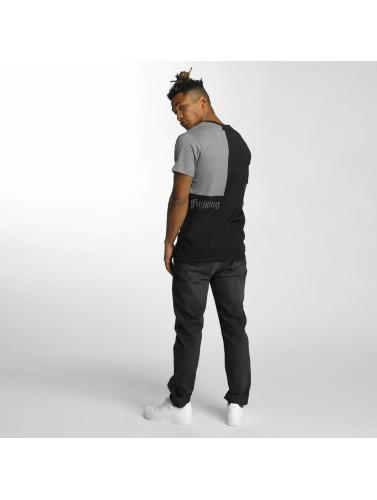 Thug Life Hombres Camiseta Qube in negro