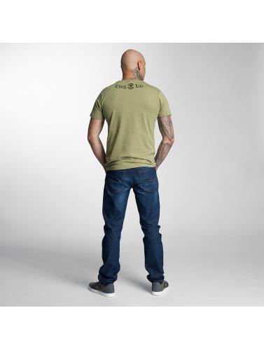 Thug Life Hombres Camiseta No Reason in oliva