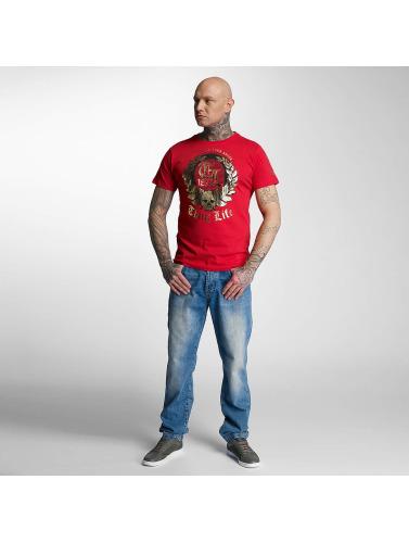 Thug Life Hombres Camiseta Celebrate in rojo