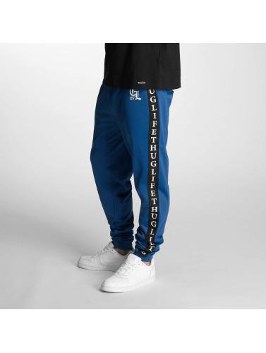 Thug Life Herren Jogginghose Two Stripes in blau