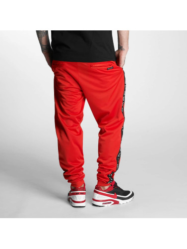 Thug Life Herren Jogginghose Two Stripes in rot