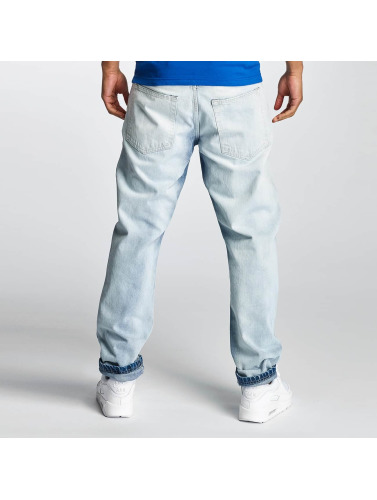 Thug Life Herren Karottenjeans Washed in blau