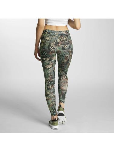 Thug Life Damen Legging Broon in camouflage