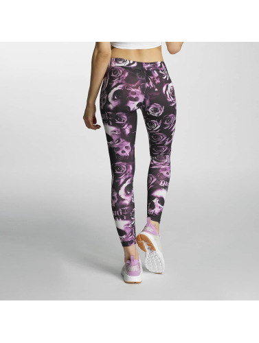 Thug Life Damen Legging Skullpattern in pink