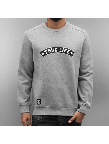Thug Life Herren Pullover Rudedigga in grau