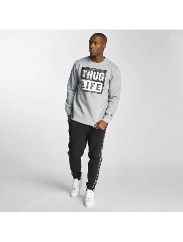 Thug Life Herren Pullover Boxlife in grau