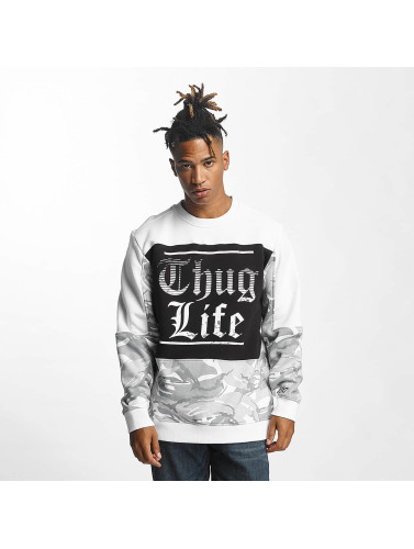 Thug Life Herren Pullover New Life in weiß