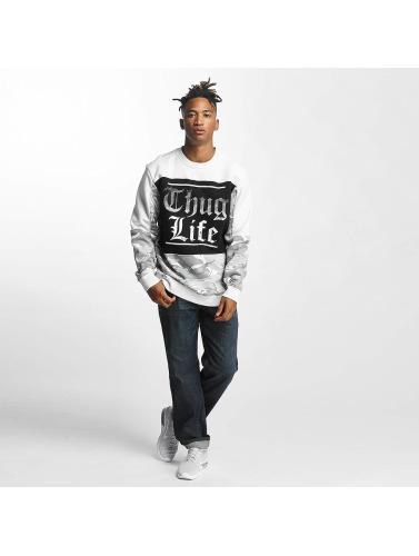 Thug Life Herren Pullover New Life in weiß
