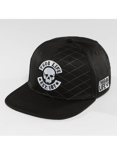 Thug Life Snapback Cap Whitline in schwarz
