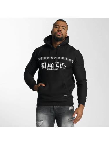 Thug Life Hombres Sudadera Burn in negro