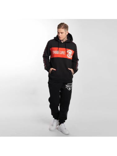 Thug Life Hombres Sudadera Lux in negro