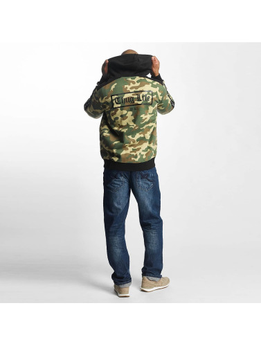 Thug Life Hombres Sudaderas con cremallera Wired in camuflaje