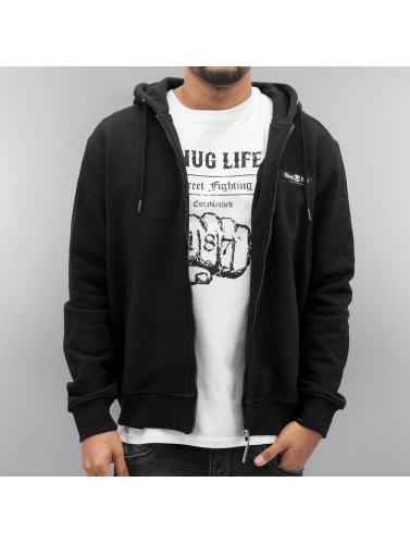 Thug Life Hombres Sudaderas con cremallera Angle Life in negro