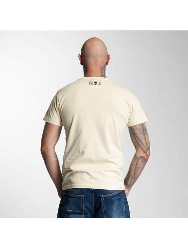 Thug Life Herren T-Shirt Kursiv in beige